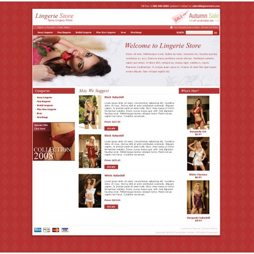 Lingerie Store Template