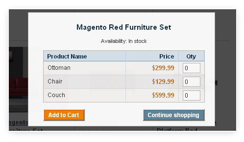 Compete support for different type of Magento products