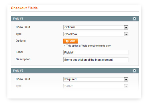 Magento custom checkout fields