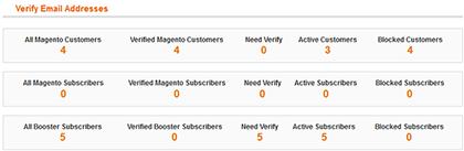 Email address verification option